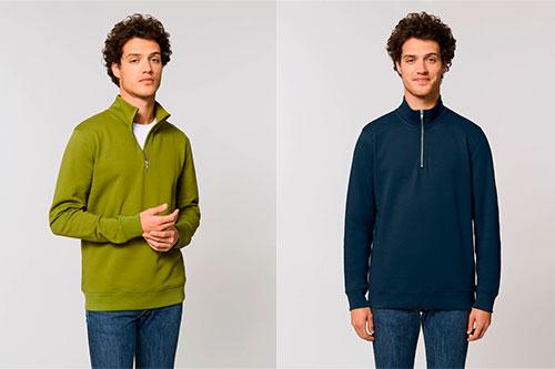 miesten collegepaita half zip