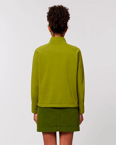 naisten half zip collegepaidan selkäpuoli