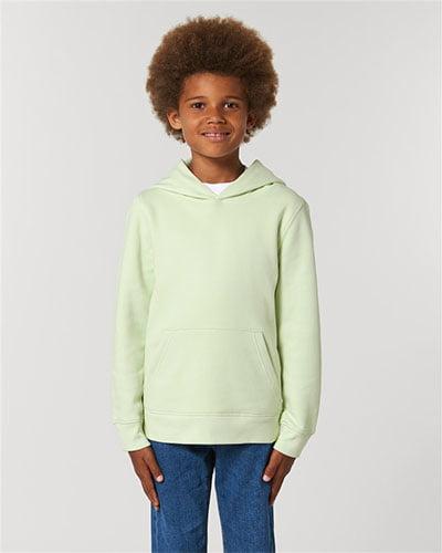 vaalean vihreä lasten huppari